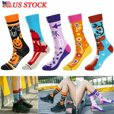 Cute Halloween Cartoon Characters (Womens Girls Cute Character Novelty Cartoon Cotton Crew Halloween Ankle Socks)