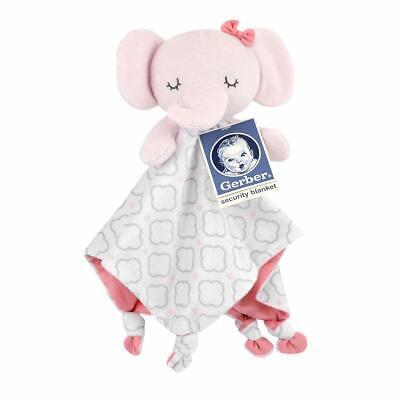 Gerber Pink Elephant Security Blanket-Baby Girl Gift