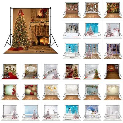 28 Type XMAS Tree Snowman 10X10FT Vinyl Studio Backdrop Photography Background