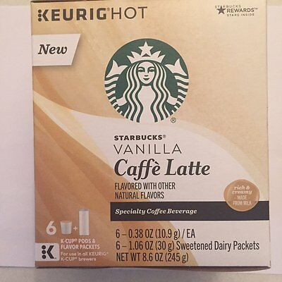 Starbucks - K Cups 6 ct - Vanilla Caffe' Latte (Pack of 1 ) JUNE 2019