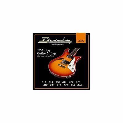 DUESENBERG DSA12 Juego de Cuerdas Para 12-Saiter Guitarra Eléctrica, 010-046