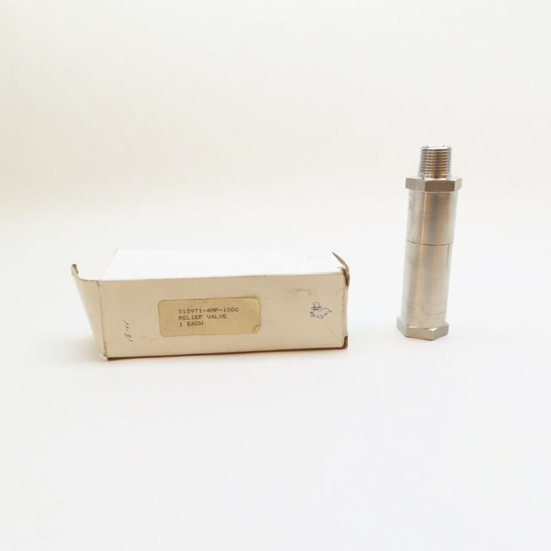 Circle Seal 5159T1-4MP-1000 Stainless 1000psi 1/2in Npt Relief Valve
