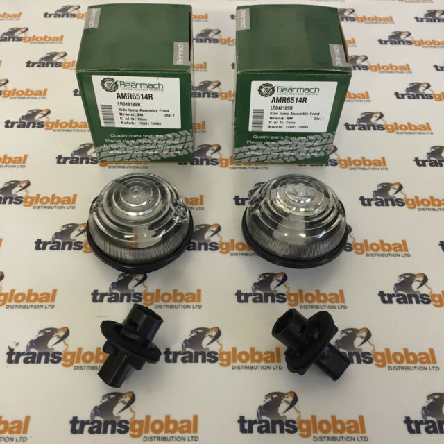 Land Rover Defender 300tdi 94 On Front Side Light Lamps x2 - Bearmach - AMR6514