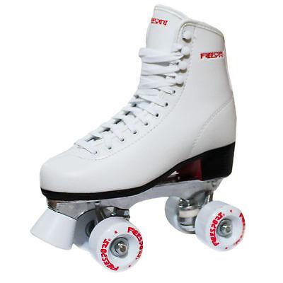 New Freesport Classic Quad roller skates kids Boot White Size 4 UK 37eu