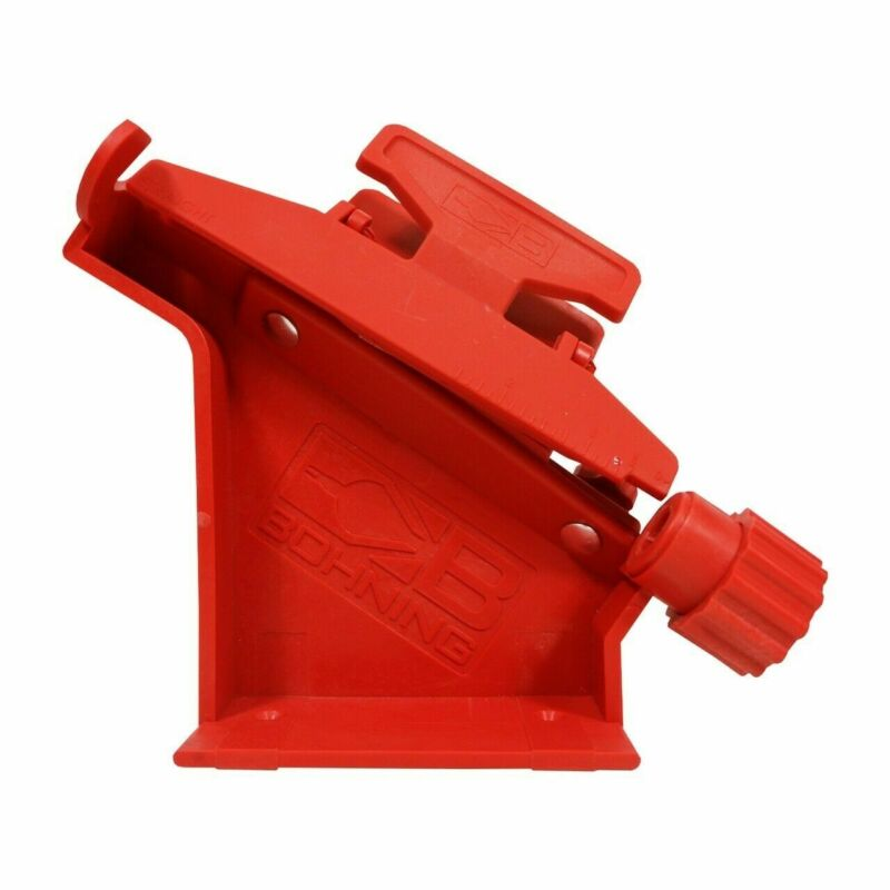 Bohning Pro Class Arrow Fletching Jig w/ Straight/Right/Left Clamp Polymer - Red