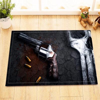 Wild West Murder Pistol Non-Slip Home Decor Kitchen Bathroom Carpet Door Mat Rug Western Non-slip