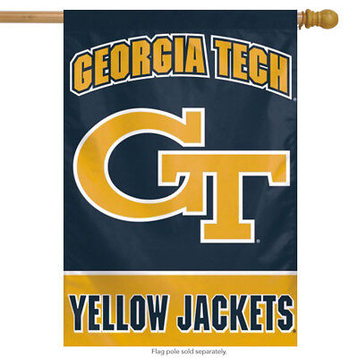 Georgia Tech House Flag (Georgia Tech Vertical NCAA House Flag Yellow Jackets Licensed  28