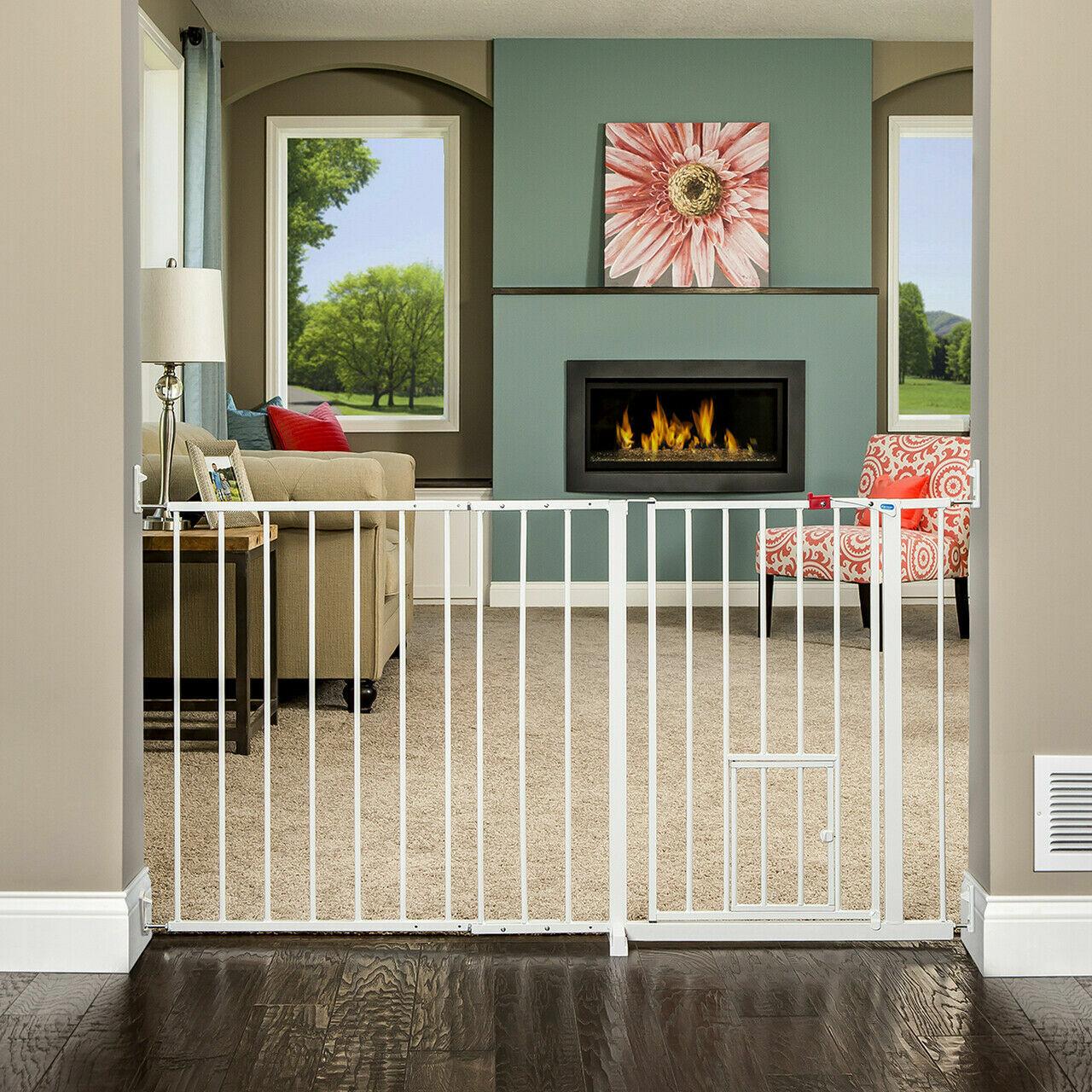 Carlson Maxi Walk Through Pet Gate, 50-59 Inches Wide, Hardw
