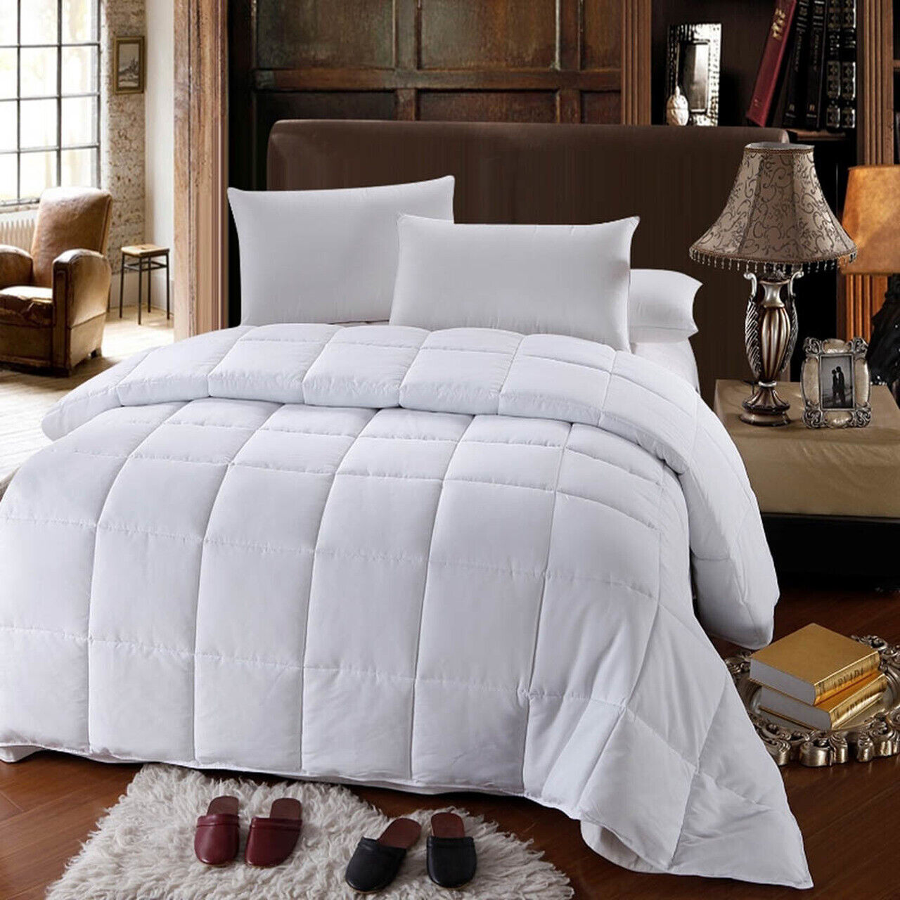 Royal All Season Down Alternative Quilted Comforter Box Stit