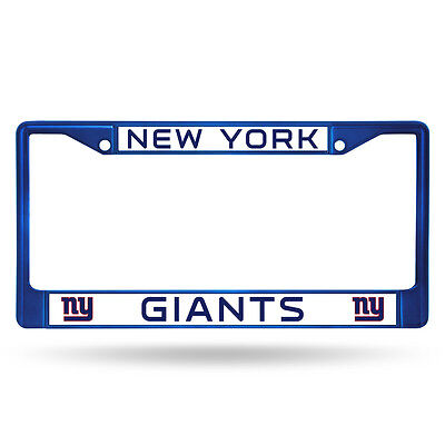 New York Giants Nfl-auto (New York Giants Blue Metal License Frame [NEW] NFL Auto Car Truck Plate Steel NY)