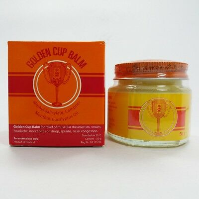 50 g Yellow Golden Cup Balm Baume Best Thai Massage Ointment Relieve Muscle