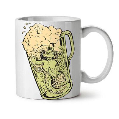 Beer Drink NEW White Tea Coffee Mug 11 oz | Wellcoda (Beer 11 Oz White Mug)