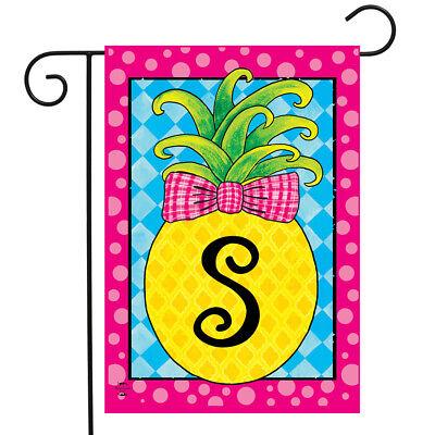 Garden Flag Letter - Pineapple Monogram Letter S Garden Flag Everyday Briarwood Lane 12.5