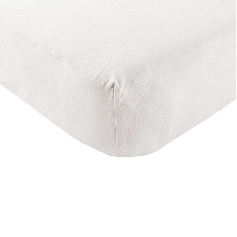 Touched By Nature Boy and Girl Organic Cotton Fitted Crib Sheet, White