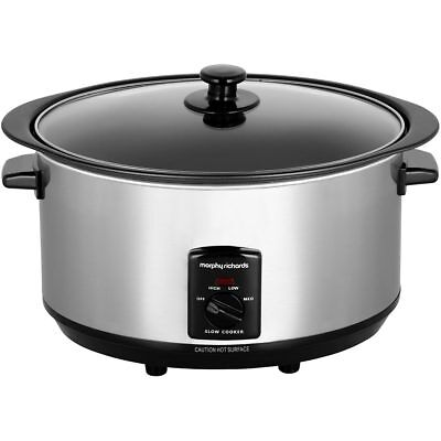 Morphy Richards 48710 Slow Cooker Free Standing Stainless Steel