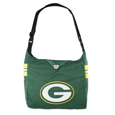 NFL Green Bay Packers Team Jersey Tote Bag Cross Fabric Bag Teal Green