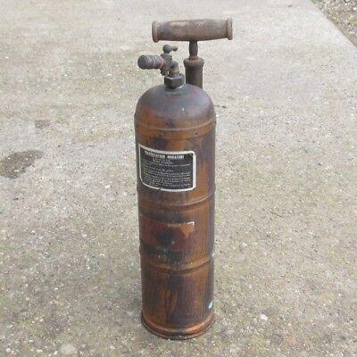 """VintageFrench Garden Sprayer, Brass / Copper / Wood, labeled""""Muratori"""", Paris"""