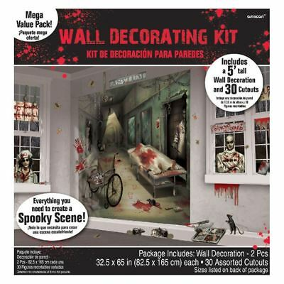 Asylum Scene Setters Mega Value Wall Decoration Kit - Halloween Wall Scene Setters