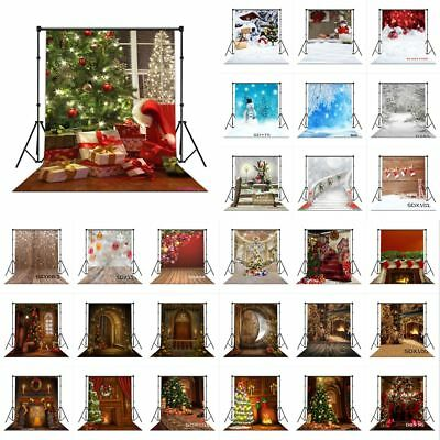 10X10FT XMAS Tree Snowman Winter Snow CP Vinyl Studio Backdrop Photo Background