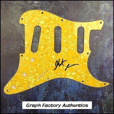 GFA Jethro Tull Guitarist * MARTIN BARRE * Signed Electric Pickguard AD1 COA