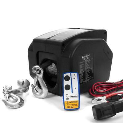 12V Elektrische Seilwinde 4990 KG mit Funk Motorwinde Bootswinde Winde Seilzug