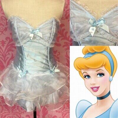 Cinderella Adults Costume (Adult Sexy Cinderella Costume Leg Avenue Mini Dress Size Med/large)