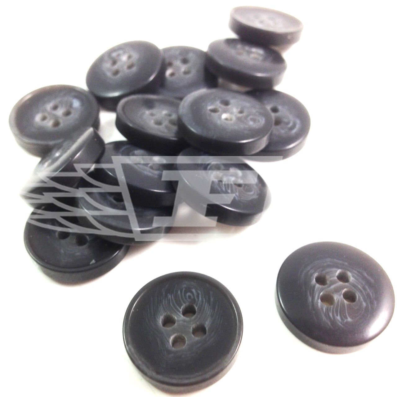PACK OF 25 19mm BROWN TEXTURED PLASTIC BUTTON BUTTONS 2 HOLE SEWING BTN 18195-30