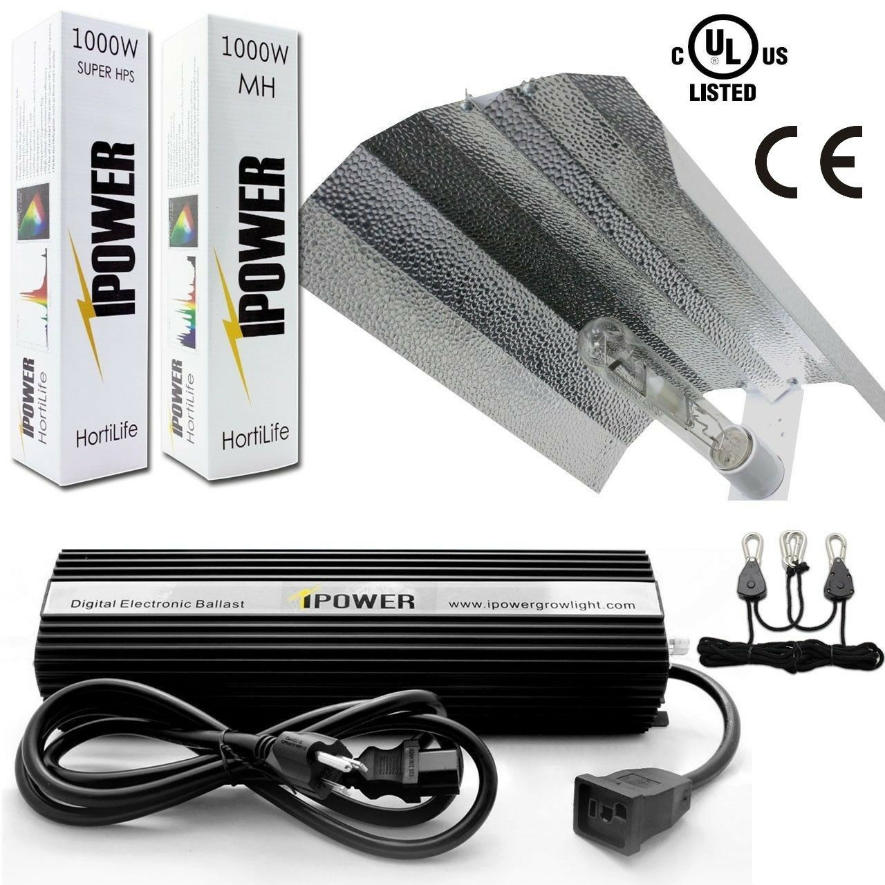 iPower GLSETX400DHMWING 400-Watt Light Digital Dimmable Syst