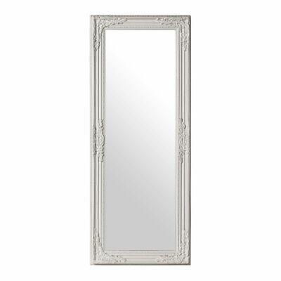 Premier Chic Vintage Large Wall Mirror, White Finish Rectangular 100cm Length