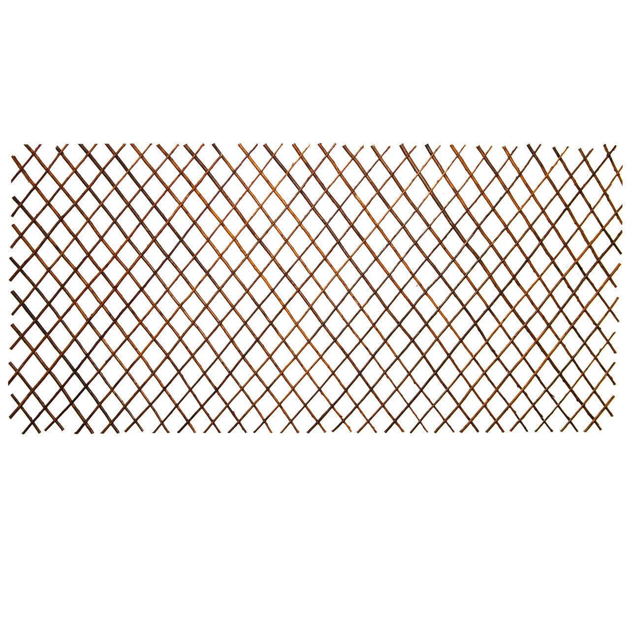 5x Holz Rankgitter Rankhilfe Weidenzaun Sichtschutz variabel bis 180x90cm