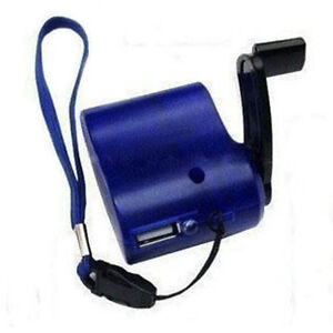 Dynamo Hand Crank USB Emergency Charger for Cell Phone/MP3 Player Portable