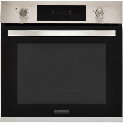 Baumatic BOFTU604X Built In 60cm A Electric Single Oven Stainless Steel New