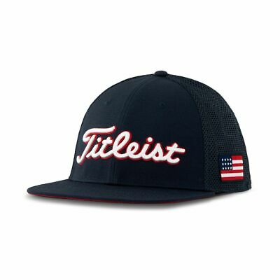 100% authentic 81248 74c0d Titleist Golf 2019 Tour Flatbill Mesh STARS and STRIPES Hat COLOR  NAVY
