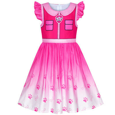 US STOCK! Flower Girl Dress Paw Patrol Skye Costume Halloween Party Size 3-7 - Bridesmaid Costume Halloween