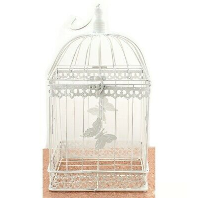 Wishing Well For Wedding (Bird Cage Wishing Well Alternative For Wedding Money Gift Square Metal)