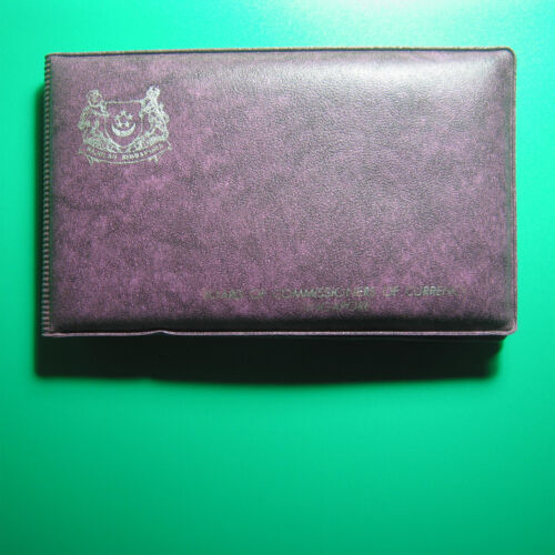 "1978 SINGAPORE (6) COINS MINT SET ""YEAR OF THE HORSE"" PURPLE WALLET+COA"
