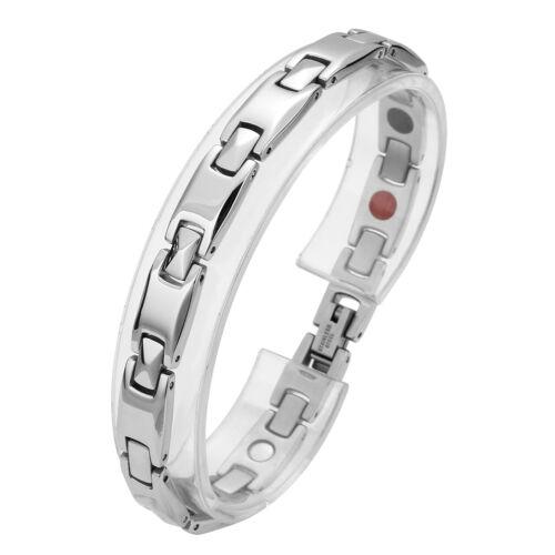 Damen 4 in 1 Armreif Magnetarmband Health Power Bracelet Schmuck Edelstahl mode