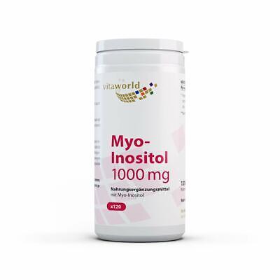Inositol 120 Kapseln (Vita World Myo-Inositol 1000 mg HOCHDOSIERT 120 Kapseln Apotheker-Herstellung)