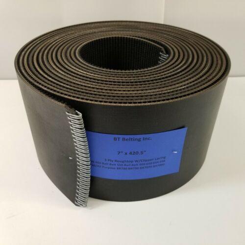 New Holland Roll Belt 460 Round Baler Belts Set 3 Ply Roughtop w/ Clipper