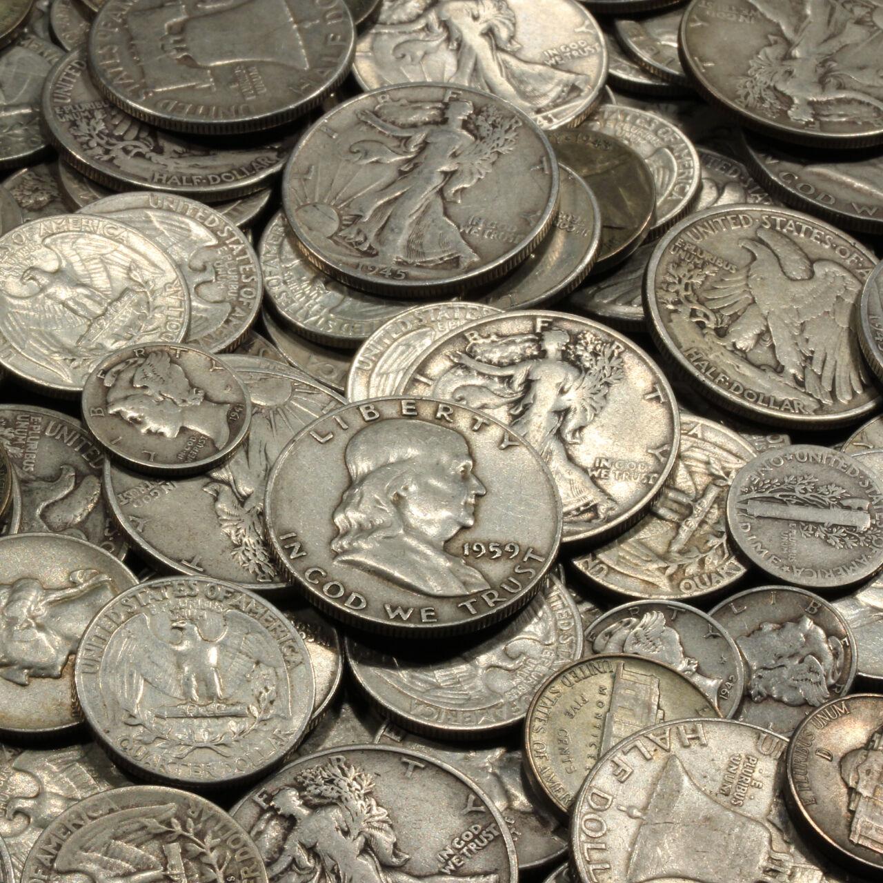 ✯SILVER✯ ONE Troy Pound U.S. Mixed Silver Coins Lot Pre-1965 .999 Bars Bonus!