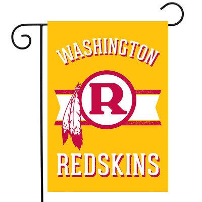 "Retro Washington Redskins Garden Flag NFL Double-Sided 12.5"""