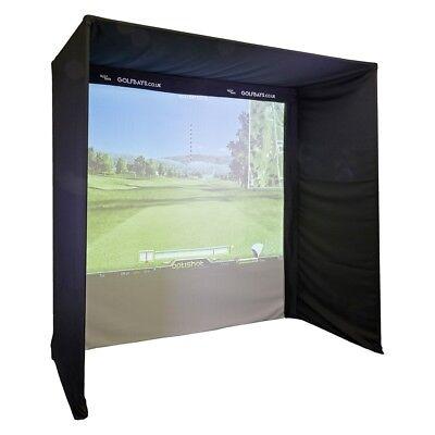 EasySim Golf Simulator Enclosure, 2.5 x 2.5 x.1.3, ( No Pipe version) Skytrak,