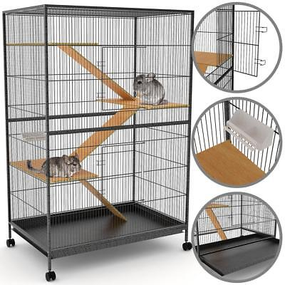 happypet® XXL Nagervoliere Käfig Hamster Frettchen Chinchilla Vögel Mäuse Ratten