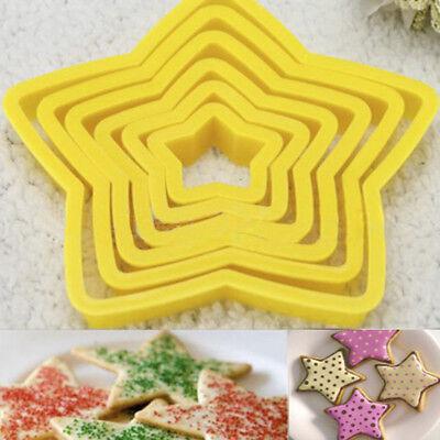 3D Keks Cutter Kunststoff Stern Star Form Cookie Kuchenform Gebäck Dekor Nett