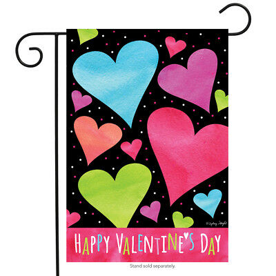 "Valentine Hearts Garden Flag Valentine's Day Holiday 12.5"" x 18"" Briarwood Lane"