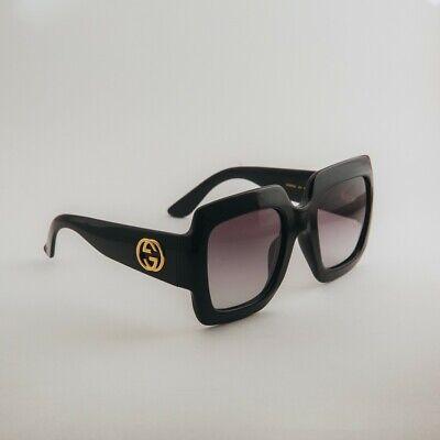 Gucci GG0053S 001 54mm Oversize Square Black Women Sunglasses with Velvet (Gucci Ladies Sunglasses)