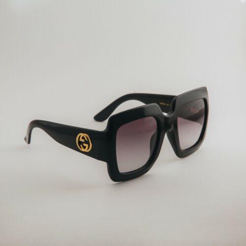Gucci GG0053S 001 54mm Oversize Square Black Women Sunglasses with Velvet case