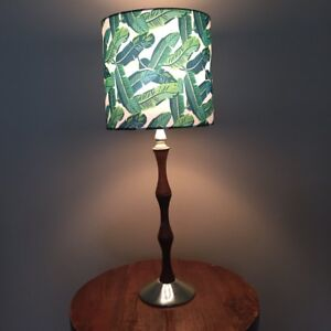 Mid Century Table lamp with new designer shade