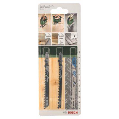BOSCH Jigsaw Blades 3 pcs. Set 2609256741 For Wood & Metal T111C+T244D+T118B