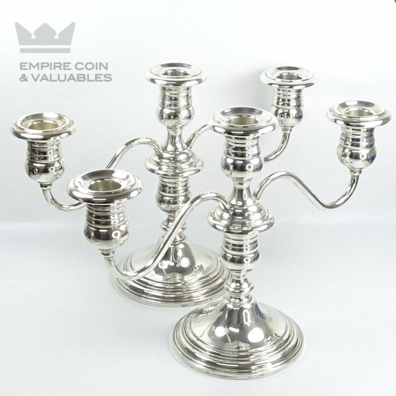 Vintage Sterling Silver Gorham Weighted Candelabra Candle Holder